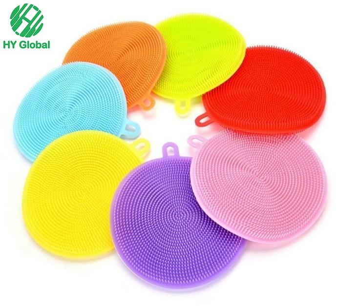 Silicone Dish Sponge Washing Brush Scrubber