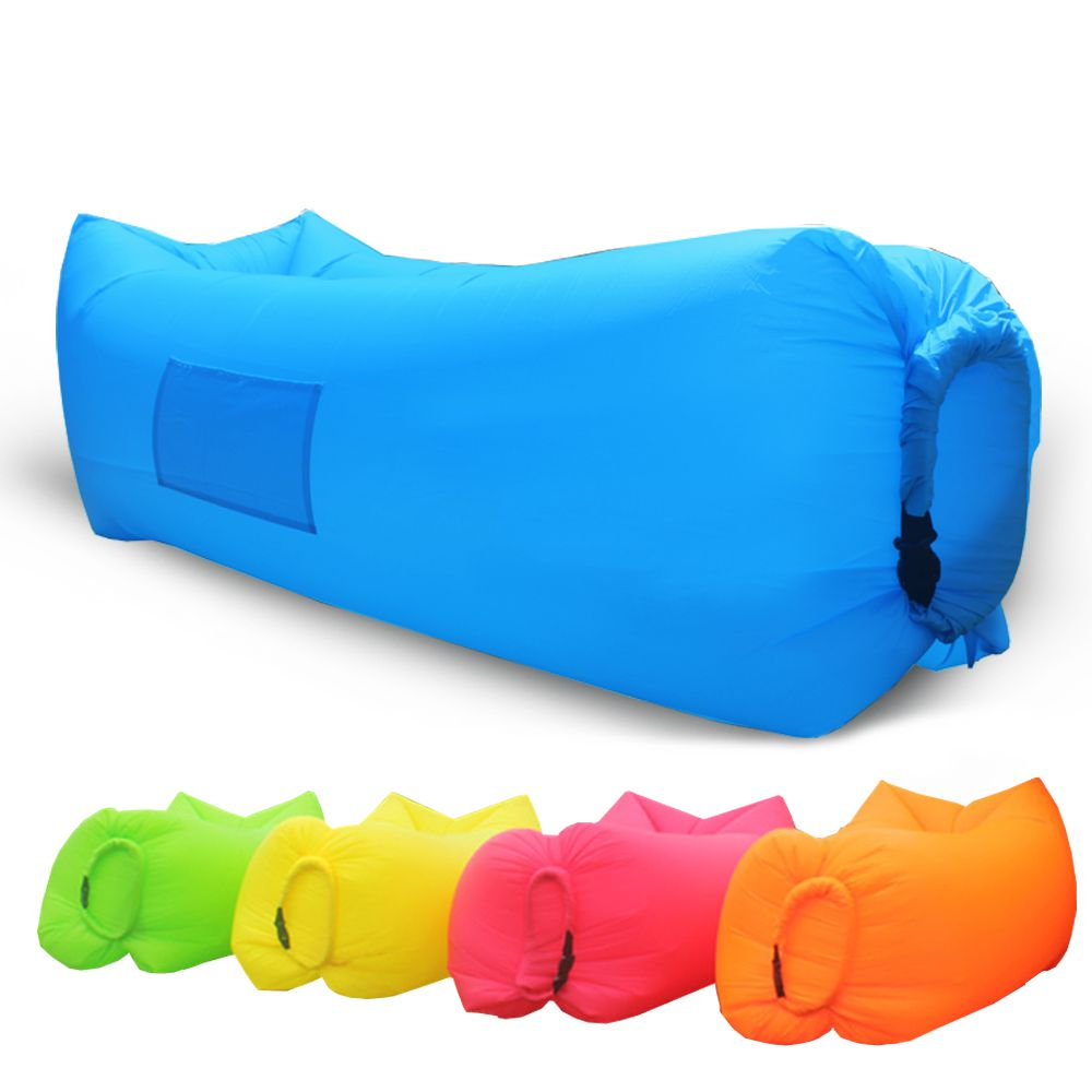 inflatable beach lounge fast inflating air sleeping bags