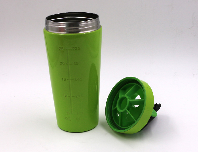 Gym Sports Stainless Steel Protein Shaker Bottle