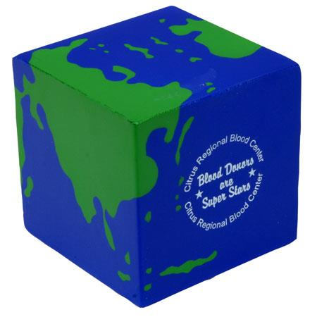 Custom design cube shape stress ball,stress cube