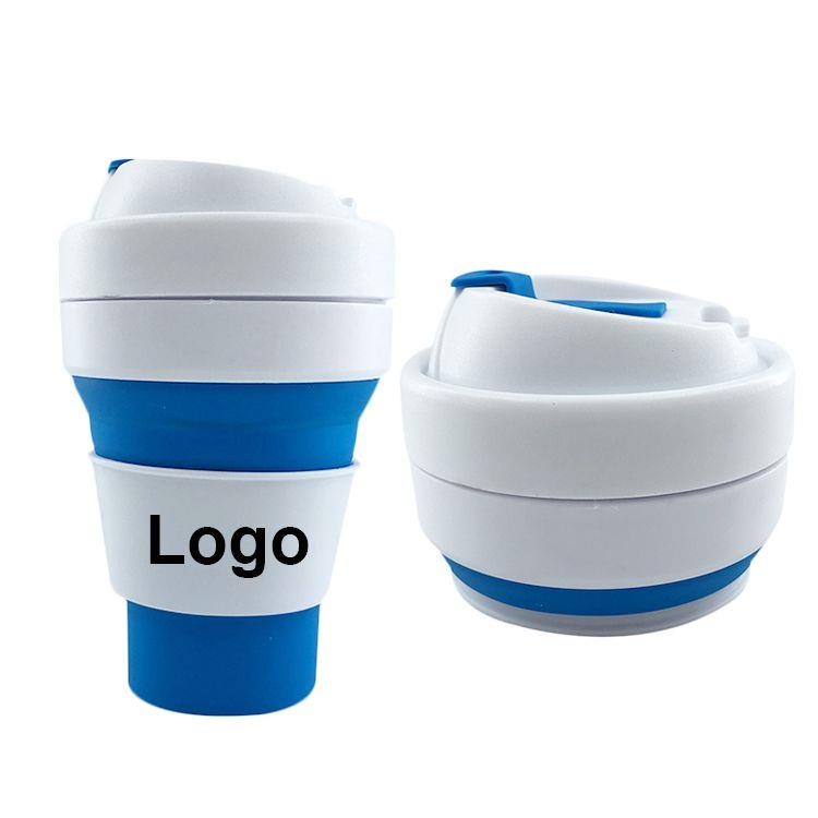 Custom High Quality Silicone Folding Cup With Cover