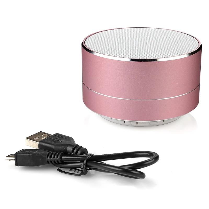 2018 metal mini portable wireless sound bluetooth speaker with Mic TF card FM radio AUX MP3 music play loudspeaker