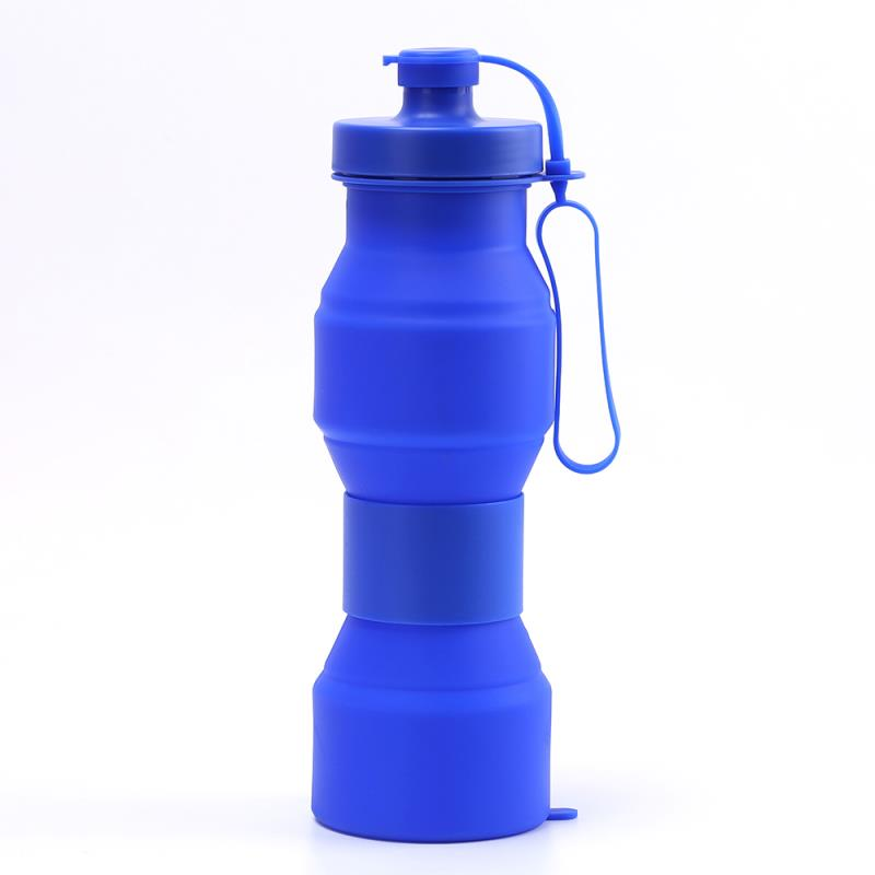 Wholesale Foldable Silicon Silicone Collapsible Water Bottle