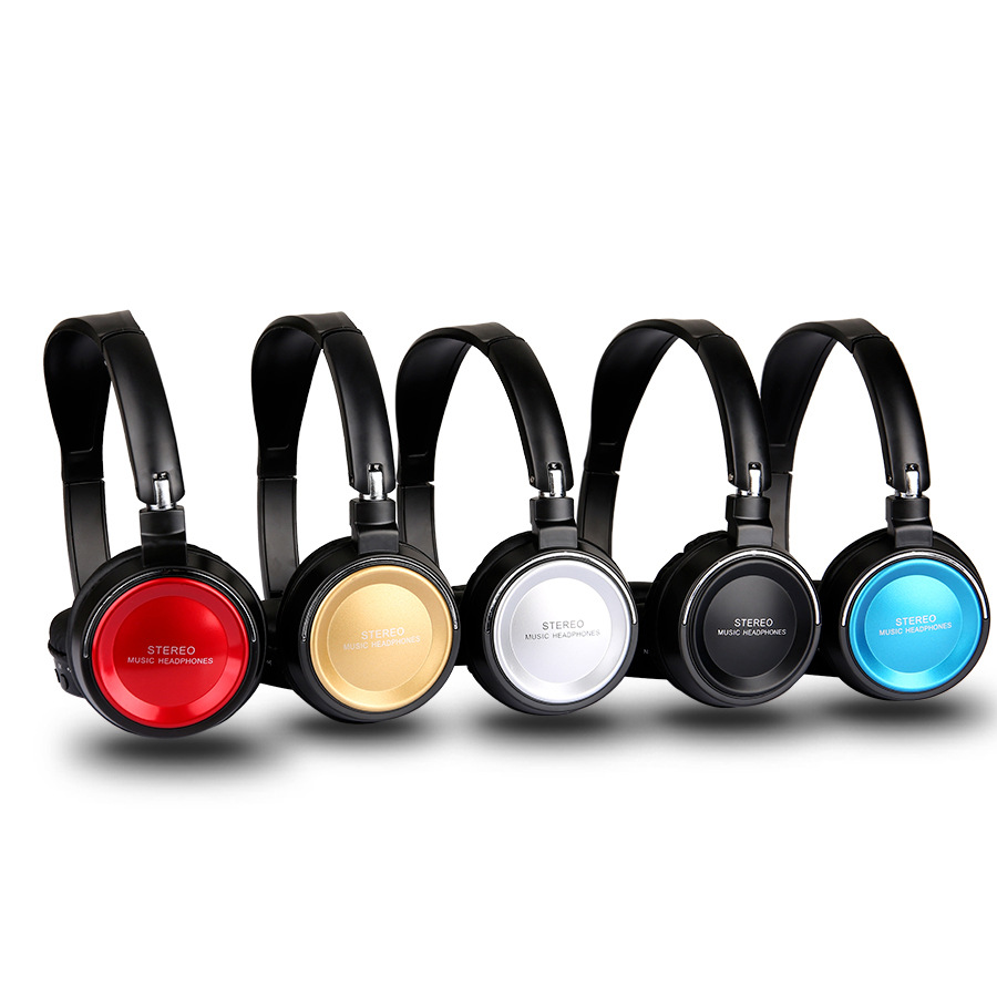 Blue tooth Wireless Headphone Wearing headphones With Card FM head-mounted Foldable Headset