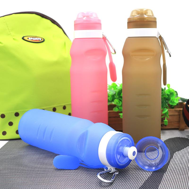2018 Sport Silicone Travel Bottle Folding Water Bottle