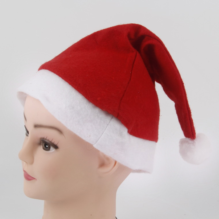 Merry Christmas Memorable Promotional Gifts Plush Christmas Hat With Family