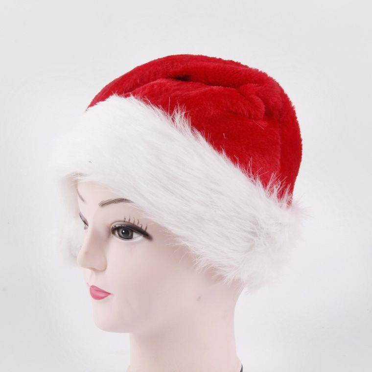 party claus hat plush Christmas Santa Hat