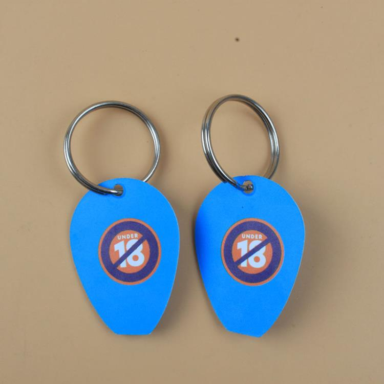 factory cheap plastic pp ticket scraper keychain