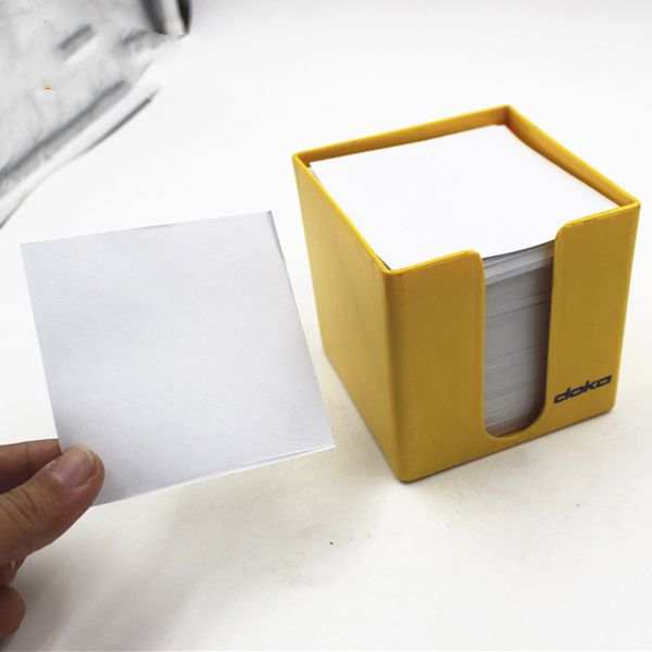 Customized printing sticky notes memo pads in transparent plastic case