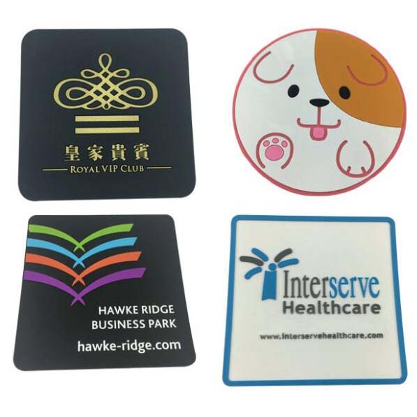 Promotional square 3d soft custom pvc coasters gifts item coaster