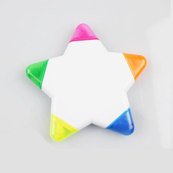 Five colors Star Shape Highlight Markers