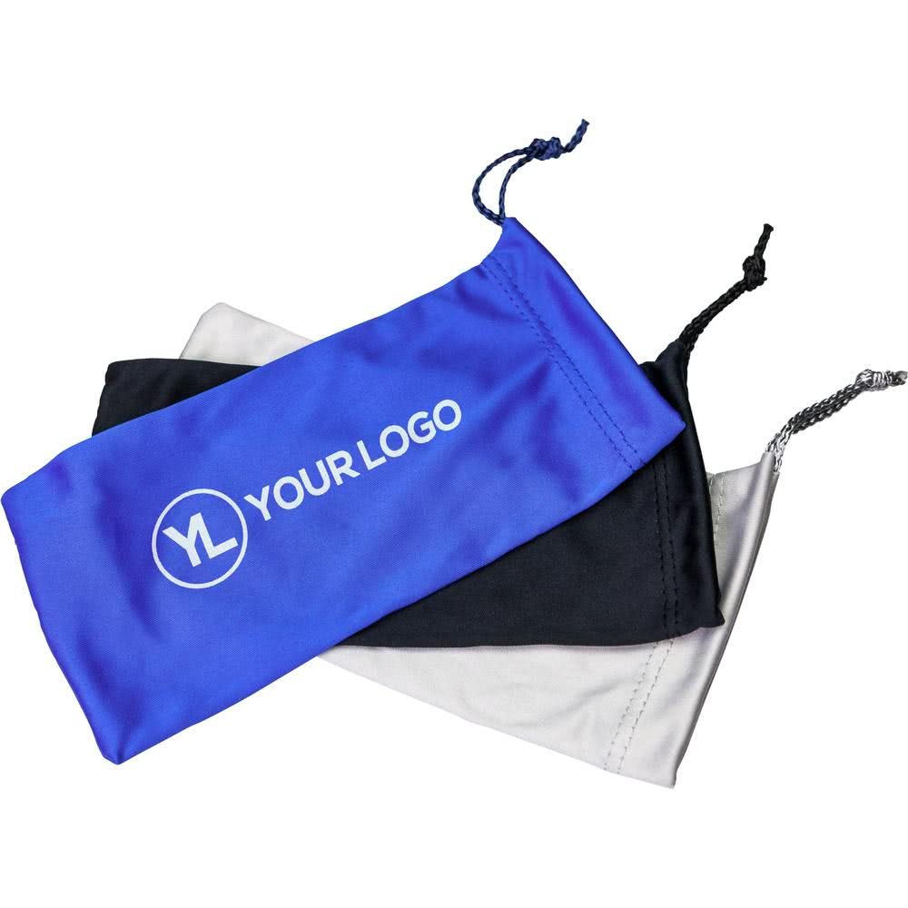 Customized microfiber mobile phone pouch with drawstrings