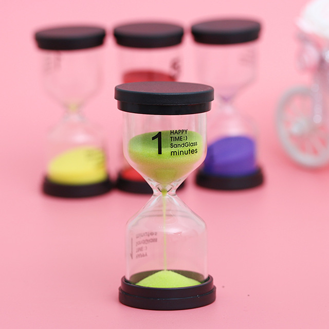 1~60 Minute  Plastic Glass Sandglass Clock Timer