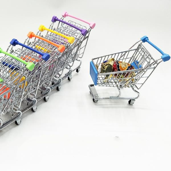 Kids mini toy supermarket shopping cart