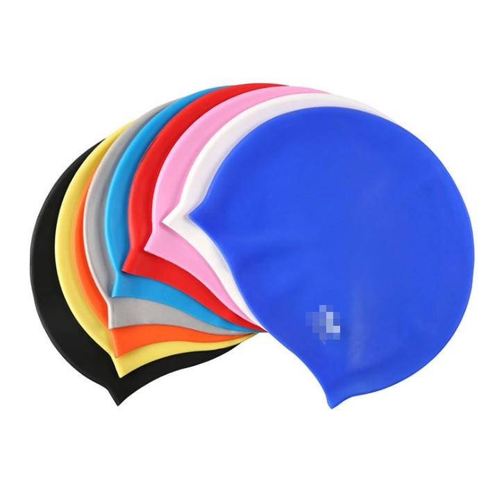 Custom Logo Silicone Swimming Cap for Women/Men and Kids