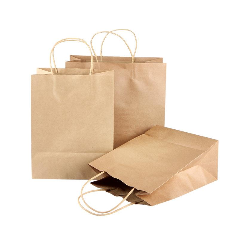 reusable custom shopping printed tote brown kraft paper luxury paper gift bag
