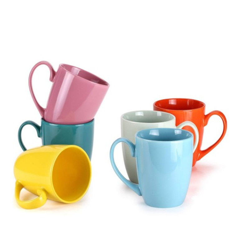 Promo multicolor ceramic porcelain coffee mug set
