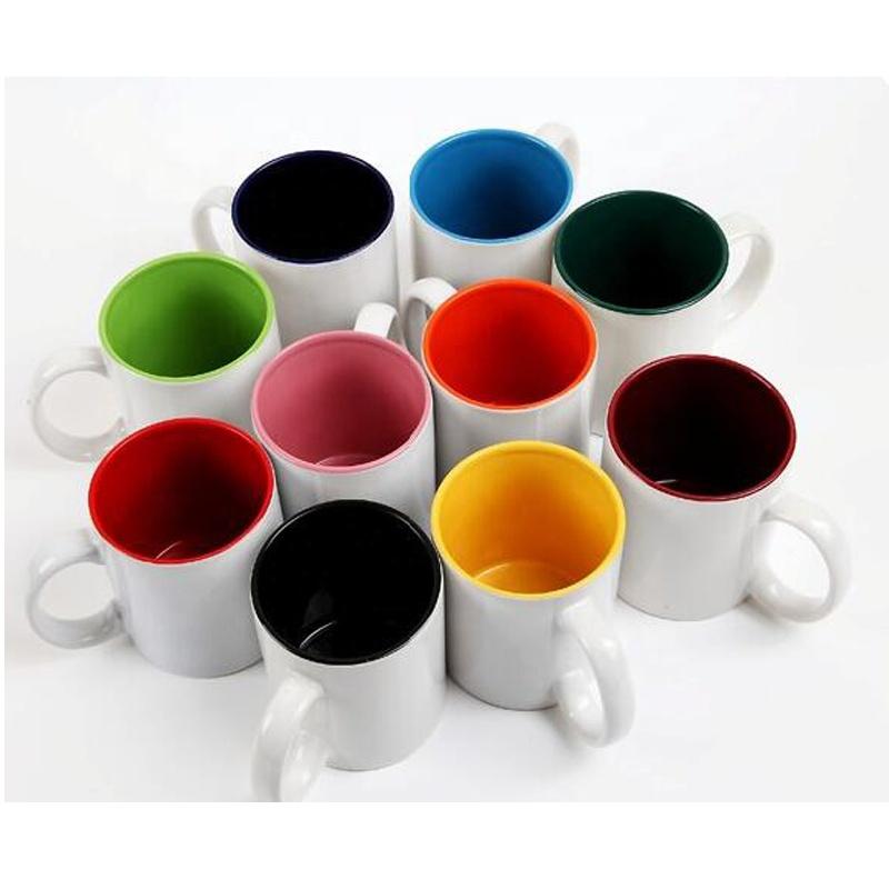 Wholesale Promotional 11oz Color Inside Ceramic coffee Mug ...