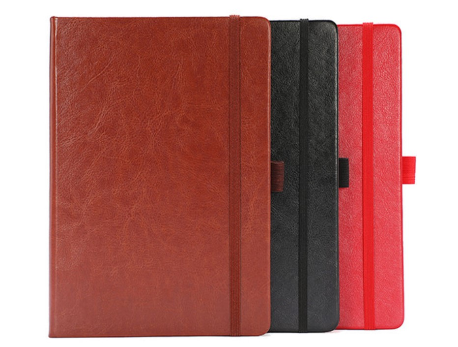 PU Hard Cover Elegant Lined Notebook for Office