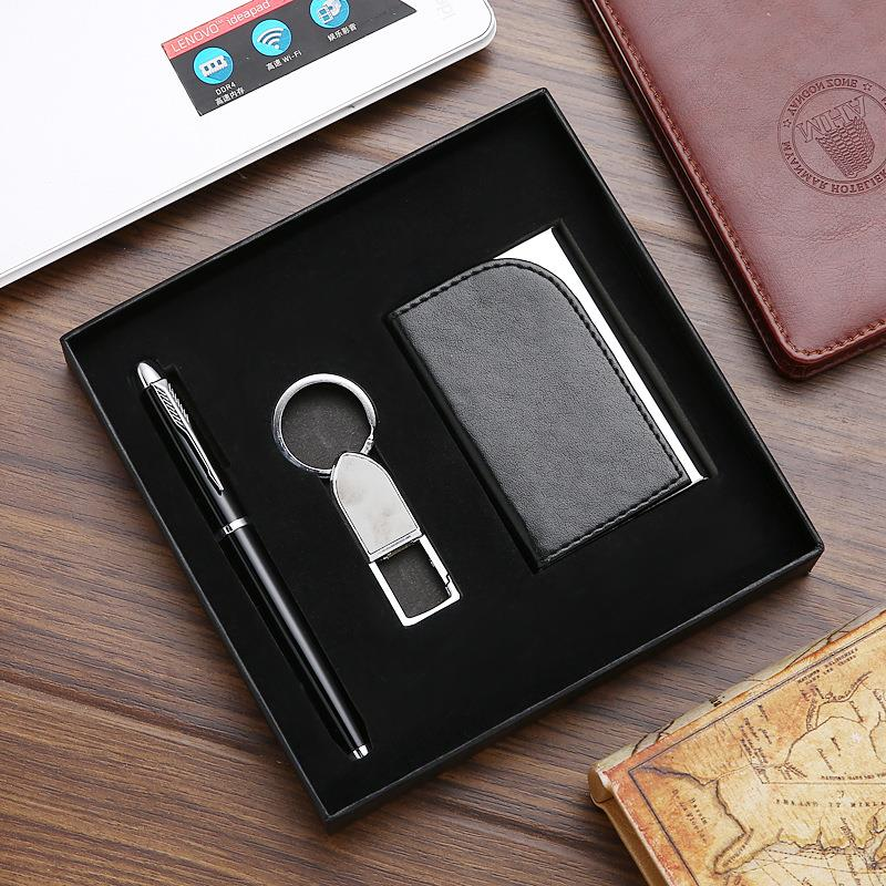 Pen Keychain and Card Holder Gift Set Corporate Executive Gift Set Promotional Gift Set For Clients