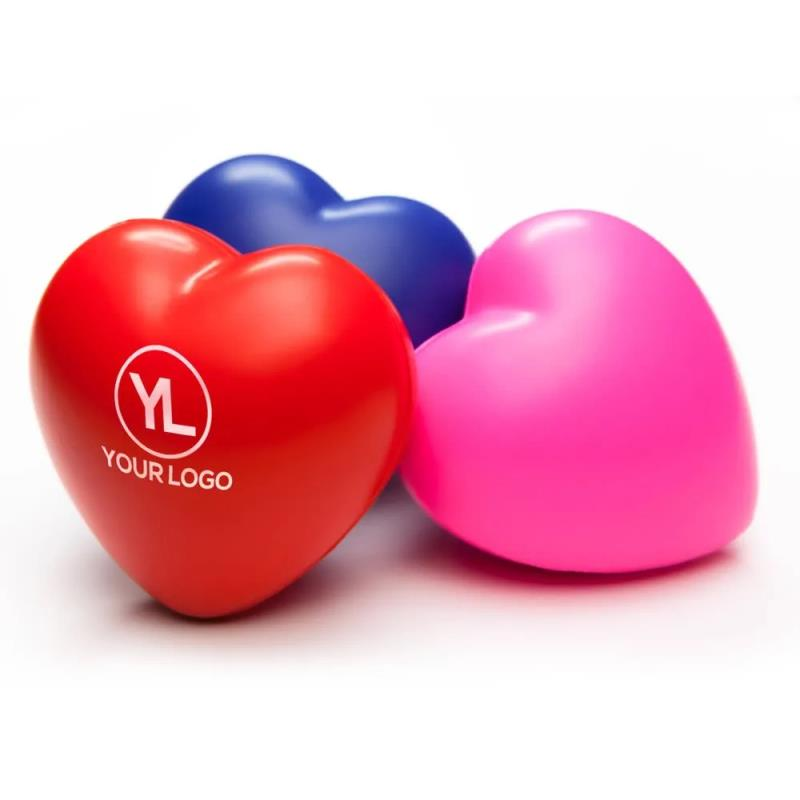Unique Design Size And Shape Soft Pu Heart Shaped Stress Ball