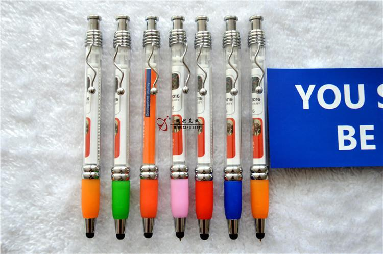 Plastic Promotion Banner Pens, Customized Ballpoint Pen With Roll Out Papers
