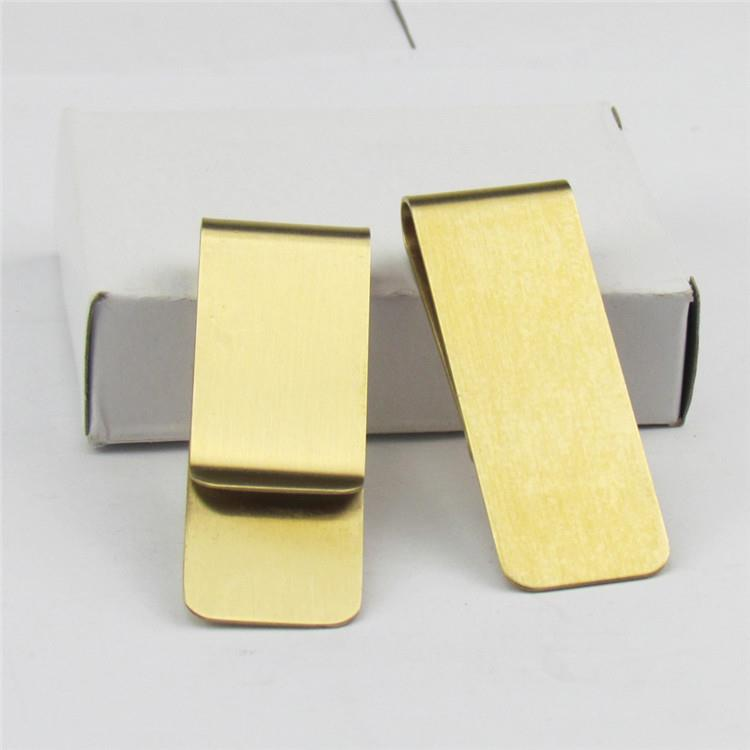 Money Clip Card Holder Wholesale Custom Spring Metal Gold Money Clip