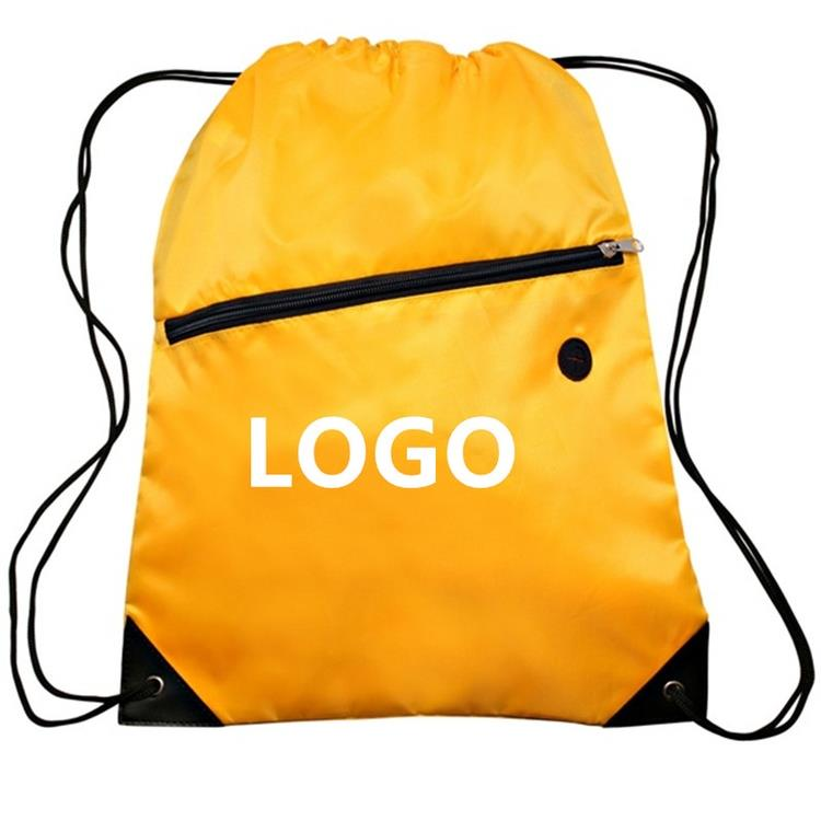 Customized Sports Drawstring Backpack With Zipper