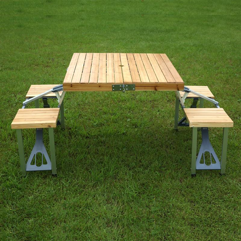 Wooden Folding Picnic Table And Chair