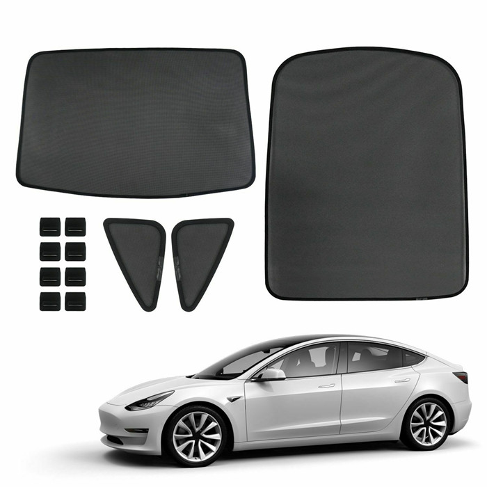 Front and rear sunshade for Tesla model 3 sunroof