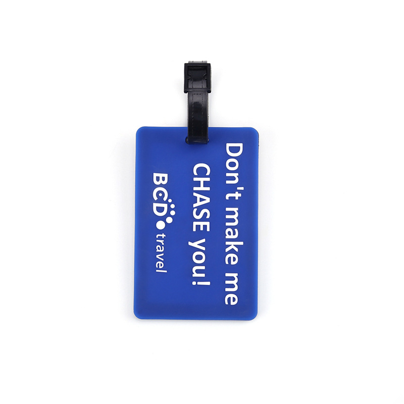 Custom Embossed Logo Safety Travel Airline Soft PVC 2D/3D Silicone Rubber Baggage Luggage Tag