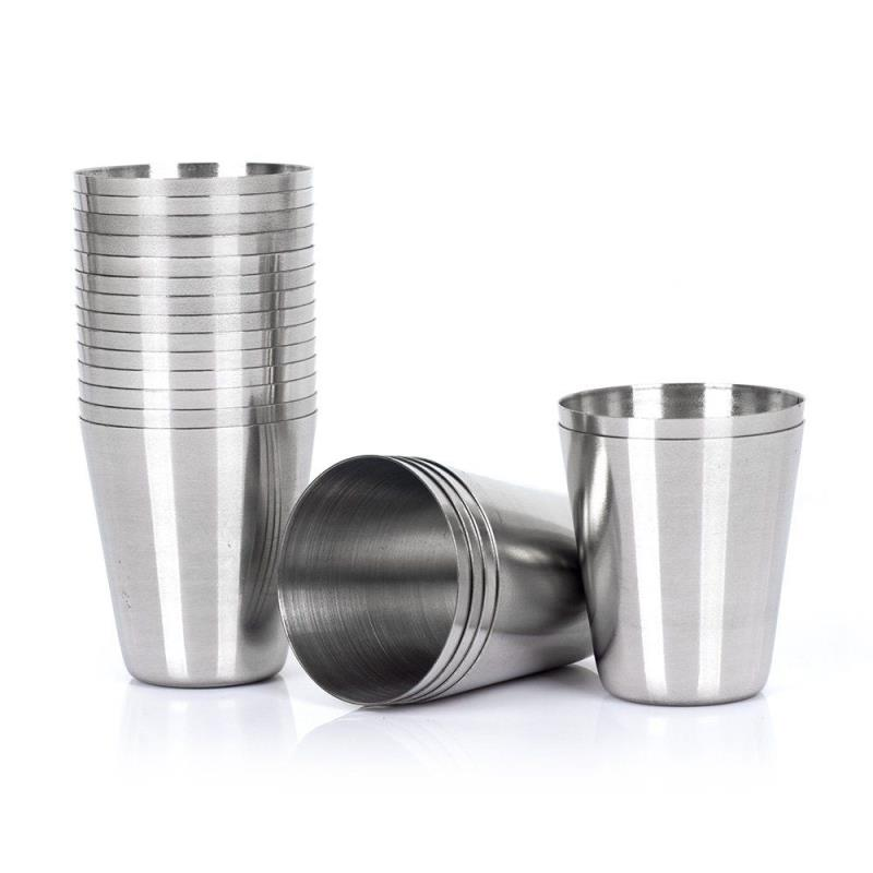 Customized Whiskey Shot Glass  304 stainless steel metal wine cup