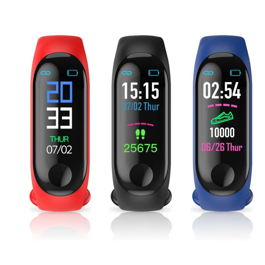 Heart rate monitor pedometer fitness tracker watch M3 sports smart bracelet