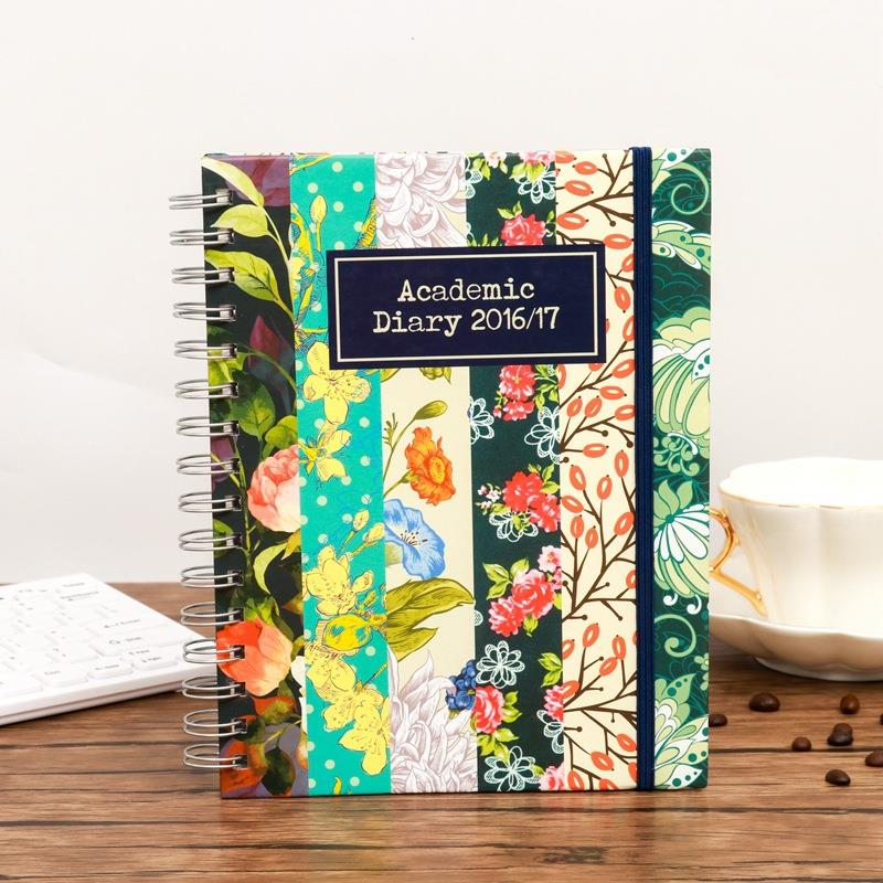 Wholesales Luxury A5 Custom flower Top Bound Spiral Notebook