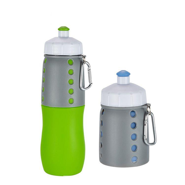 500ML Collapsible Silicone Sports Water Bottles Squeeze Water Drinking Bottle for Running