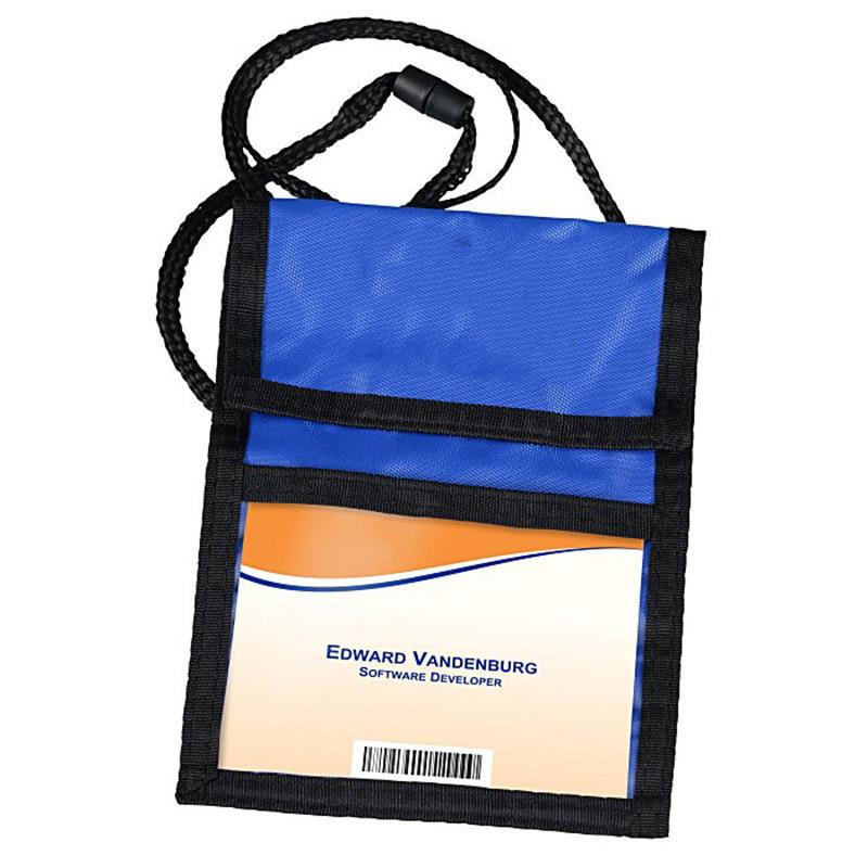 Fashion Business Card Hanging Passport Holder with Lanyard Security Neck Passport Wallet
