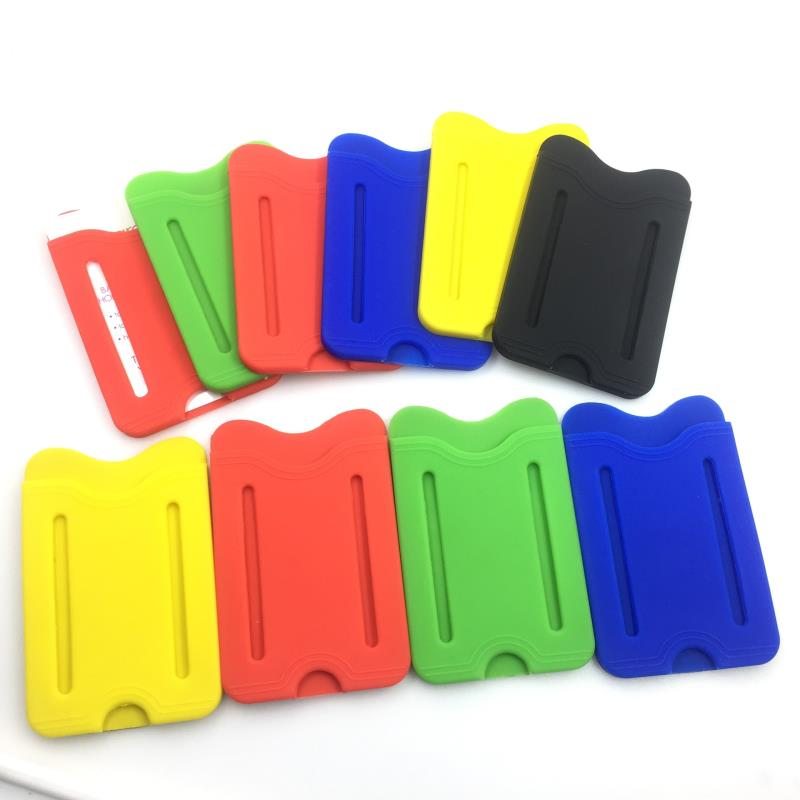 Custom silicone mobile phone card holder silicone mobile phone pocket