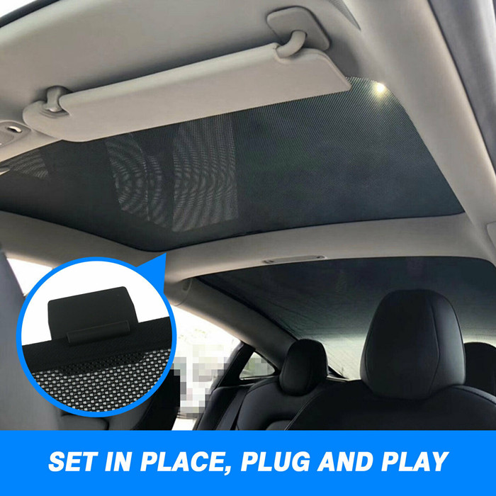 Front and rear sunshade for Tesla model 3 sunroof/www.well ...